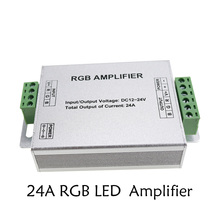 24A LED RGB Amplifier DC12-24V 3 Channel RGB Amplifier for 5050 3528RGB LED Strip Light Power Repeater Console Controller 1pcs