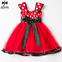 Little Girl Minnie Birthday Outfit Summer Baby Girls Clothes  Animal  Polka Dots Red Kids Party Costume Children's Clothing
