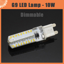 2015 New Arrival 10W G9 Dimmable Led Lamp 3014SMD 72LEDs AC 220V 230V Corn Bulb Light with White Clear Silicone Cover