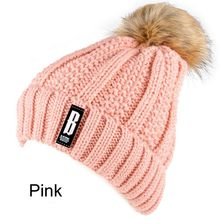 Women Girls New Autumn Winter Warm Wool Knit Cap Pompom Ball Beanie Crochet Bobble Ski Hat 7 Colors