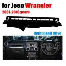 Car dashboard covers mat for Jeep wrangler 2007-2016 years Right hand drive dashmat pad dash cover auto dashboard accessories