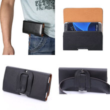 "New PU Leather Horizontal Loop Belt Holster Pouch Bag Cellphone Case Cover for Xiaomi Max 2 6.4"" MIX"