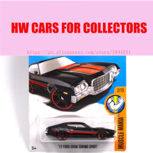 Toy cars 2016 New Hot Wheels 1:64 72 ford gran torino sport car Models Metal Diecast Car Collection Kids Toys Vehicle(China)