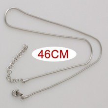 10pcs/lot 46CM high quality Stainless steel Snake Chain necklace KB3306
