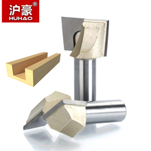"HUHAO 1pcs 1/2"" Shank CNC Cleaning bottom router bit Woodworking Tools two Flute endmill router bits for wood cutting tools(China)"