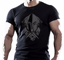 SPARTAN CRANE MMA COMBAT SEANCE D'ENTRAINEMENT MOTIVATION T-SHIRT POUR HOMMES  100% Cotton T Shirts for Man Top Tee