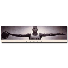 NICOLESHENTING Michael Jordan Wings Basketball Star Art Silk Poster Print 13x51inch Wall Picture Home Living Room Decor 025