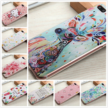 For iPhone 7 Case Luxury 3D Printed Flowers Hello Kitty Cute Girl Deer Rose Lemon for Apple iPhone 7 Plus Cover + Screen Film(China)