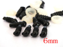 60pcs 6mm black Triangle Safety nose  Toy nose Doll Parts Animal nose Plush nose Teddy Bears nose