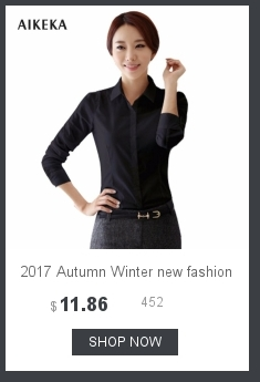 2017 Autumn Winter new fashion women Top female cotton Shirt mandarin Collar Full Sleeve Pocket solid Blouse blusas Femininas