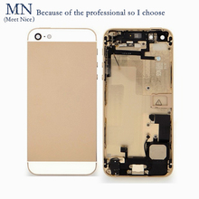 MN For iPhone5 5S Replacement Back Metal Chassis Battery Cover Door Frame Full Housing For iphone5s 5G Seller imei Number IMEI