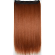 "TOPREETY Heat Resistant B5 Synthetic Fiber 28"" 70cm 130gr Straight 5 clips on clip in hair Extensions 30 colors available"