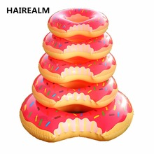 2017new Sweet Dessert child adult Super Large Gigantic Doughnut Pool Inflatable Life Buoy Swimming Circle Giant Pool Floats