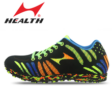 Health Athletic Sports Running Shoes for Women Jogging Shoes Professional track and field long-jump krasovki Men Sport Shoes(China)