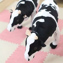 1Pc Big size toys 35x70cm Emulational Milk Cow Toy Plush Soft Stuffed Big Animal Cow Doll Birthday Cattle Gift Home Decoration