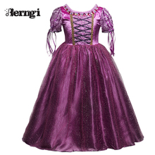 Sophia Princess Children Costume For Kids Cosplay Party Wear Teenager Girls Clothing Anna Elsa Dress Tulle Long Girl Dresses(China)