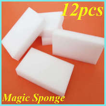 12pcs/lot 100x60x20mm Multi-functional Sponge Melamine Cleaner white Magic Sponge kitchen tools hot sale Cleaner Eraser(China)