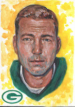 "original ART--American super star Bart Starr oil painting-TOP ART 100% hand painted -30""- FREE SHIPPING COST(China)"