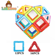 LittLove 28PCS Normal Enlighten Heart Magnetic Designer Construction Toy Educational Building Blocks Bricks Toys for Children