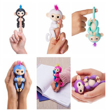 Fingerlings Monkey 6 color fingerlings Baby Pet toys sounds / Eyes can turn/joints are moving Kids Christmas gifts(China)
