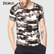 Men Camouflage T-Shirt Camo Male Army Military T Shirt Casual Top Tees Men Tshirts Menswear Cool(China)