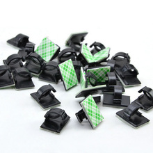 30Pcs Self-adhesive Rectangle Wire Tie Cable Mount Clamp Clip Navigator Tachograph Cable Clamp Automotive Wire Clip WX0309