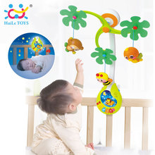 HUILE TOYS 818 Baby Toys Nursery Cot Mobile with Musical Lullaby Sounds Rattle Rotating Recreation Ground Bed Bell 0-12 Months(China)