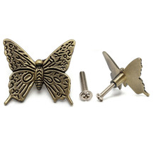 1pcs Vintage Butterfly Cabinet Knob Drawer Furniture Handles Pull Closet Cupboard Kitchen Handle Hardware Tools 43*40*12mm