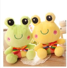 5pcs/lot free shipping Fashion Lovely frog plush toys Pendant children toy wedding party gift wholesale