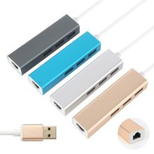 USB 3.0 Gigabit Ethernet Adapter With 3 Port Hub to RJ45 Lan Network Port Card For Windows XP 7 8/Mac OS XXM8(China)