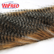 Wifreo 1 Bag 5 X 12CM Fly Tying Furabou Grizzly Color Craft Fur Fiber for Streamer Tail Wing Material Medium Size(China)