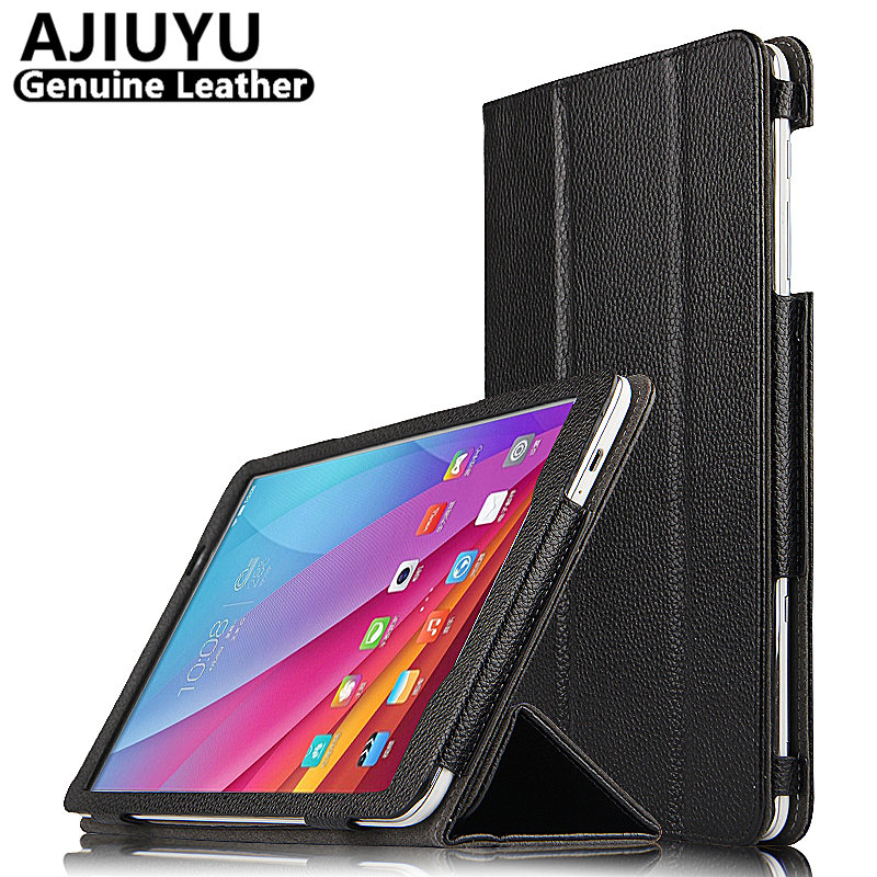 Genuine Leather For Huawei MediaPad T1 10 Case Cover T1-A21W T1-A23L Protective Smart Tablet T1 10.0 Honor Note 9.6 A21L Cowhide<br>