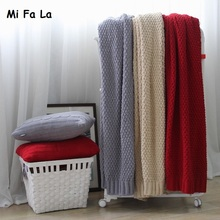 New Arrival Super Soft Chenille Knitted Plaid Sofa Throw Blanket portable car air conditioner weighted blanket camping 127*152cm