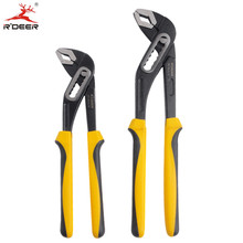 RDEER 10''/12'' Water Pump Pliers Adjustable Wrench Combination Pliers Grip Pipe Wrench Groove Plier Plumbing Tools 1PC(China)