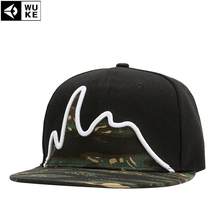 2016 New Women Men Snapback Camouflage Baseball Cap Hip Hop Dancing Bboy Kpop Flat Peak Basketball Football Hat Adjustable WUKE