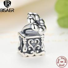 Genuine 925 Sterling Silver Classical Phonograph Charms  Beads Fit Pandora Charm Bracelet & Bangle DIY Jewelry Accessories Gift