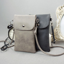 6 inch Cell Phone Bag,Matte Leather Pouch Purse Wallet Crossbody Lady Phone Bag with Shoulder Strap for Samsung Galaxy S8 Plus