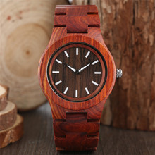 Cool Mens Watches Full Wooden Quartz Wrist Watch Novel Nature Wood Bamboo Fold Clasp Band Strap Modern Men Creative reloj mujer