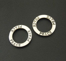 Buy 5pcs Antique Silver Circle Peace Words Charms Fit Bracelets Necklance DIY Metal Jewelry Making A1088 for $1.37 in AliExpress store