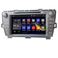 Silver 1024*600 Quad Core 16G 8'' Android 5.1.1 Car Radio Stereo Car PC for Toyota PRIUS left driving 2009- GPS Car DVD Player