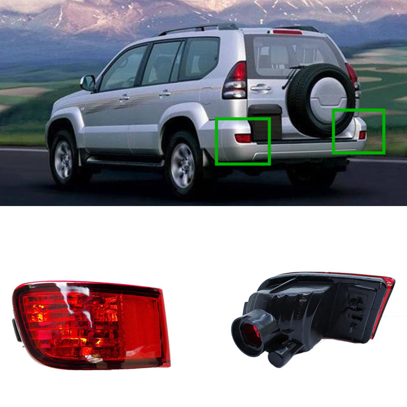 Rear Bumper Lights Rear Fog Lamp Light Tail Lamp for Toyota Prado 2003 2004 2005 2006 2007 2008 2009<br>