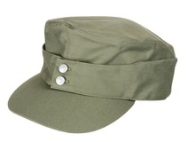 WWII German Army EM Summer Panzer m43 Field Cotton Cap Green Size L