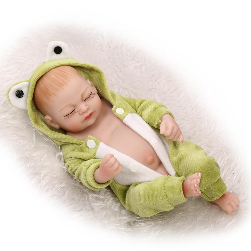 19 Realistic Silicone Reborn Baby Dolls Girls Toys Gift,Fashion Reborn Dolls Babies Boneca Newborn Sleeping Doll with Clothes<br><br>Aliexpress