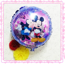 mickey and minnie party supplies metallized balloons wedding decoration 20pcs/lot 18inch mylar balloons