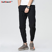 GustOmerD New Fashion Brand Pocket Decoration Sporting Pants Men Dance Jogger Baggy Trousers Fitness Drawstring Sweatpants