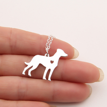 Catahoula Necklace Dainty Pendant Puppy Heart Dog Lover Memorial Pet Necklaces & Pendants Women Charms Christmas Gift Lead Free(China)