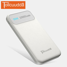 TOLLCUUDDA New 10000 mAh Portable Ultra-thin Polymer Metal Alloy Powerbank External Battery Pack Universal for All Smartphone(China)