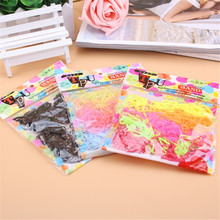 200PCS/LOT Trendy Transparent Rubber Band black rainbow colours Women Girls Elastic Hair Band Tie Rope Fashion Hair Accessories