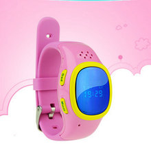Hot sale! 520 Newest Mini SOS Emergency Anti Lost GPS Tracker Watch For Kids with GSM Smart Mobile Phone App Bracelet(China)