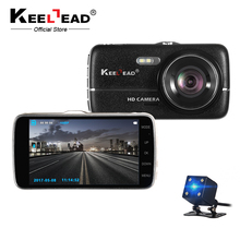 "KEELEAD H6S Dash cam IPS 4"" Car DVR Camera Dual Lens ADAS LDWS Full HD 1080P Distance warning Dashcam Video Recorder Registrar(China)"